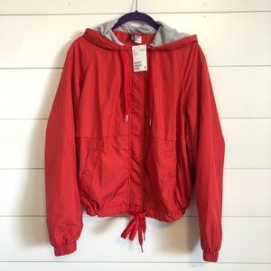 H&M Divided Hooded Windbreaker Rain Jacket